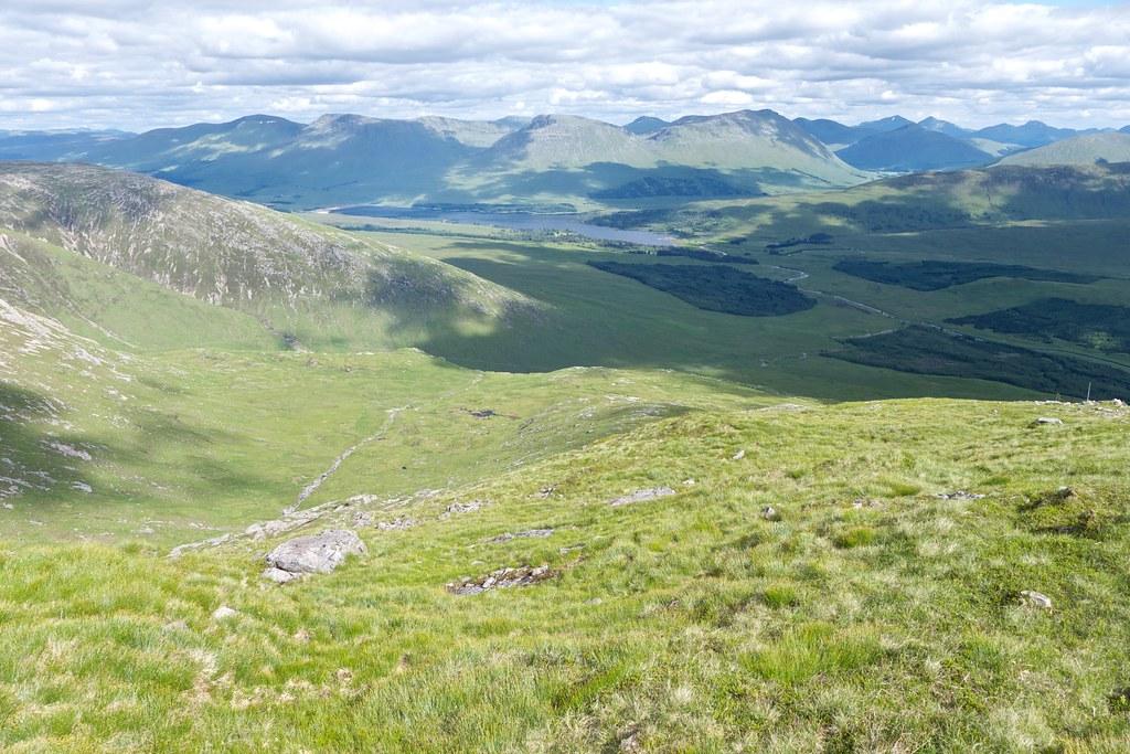 Descent of Stob Ghabhar
