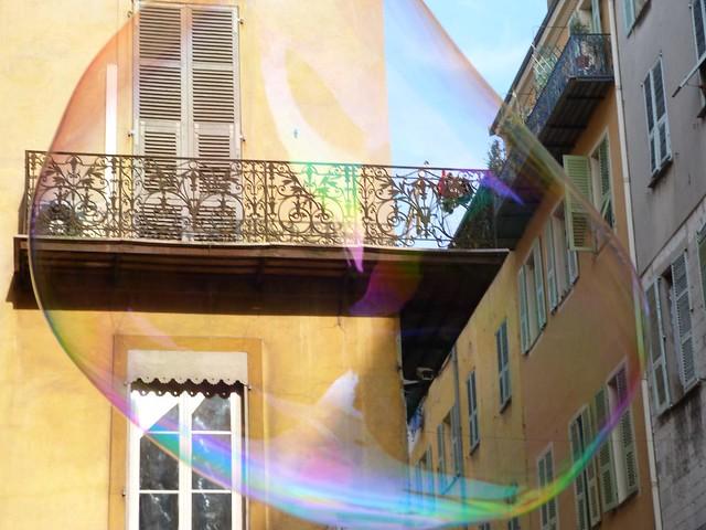 Pompa de jabón en Niza