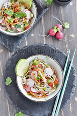 Salade with Noodles and Vegetables