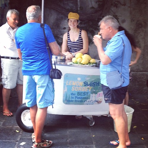 Just like the caption says the Best and only delicious granita in city centre! #best #taste #tour #private #positano #granita #delicious #taste #lemon