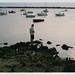 Formentera - boy,sunset,sea,film,analog,35mm,boats,nikon,fuji,des,formentera,peix,estany