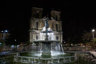 Visite de Vitry le François - Collégiale Notre-Dame de Vitry-le-François de nuit