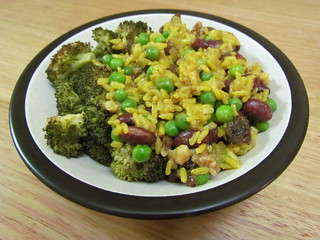 Curried Red Bean Pilaf with Walnuts and Raisins
