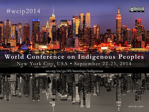 Free Poster: World Conference on Indigenous Peoples #wcip2014 @un4Indigenous @WCIP2014 (attribution-share alike license)