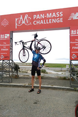 Celebrating 290 miles in 3 days, crossing Massachusetts, and finishing my 14th and final Pan-Mass Challenge.