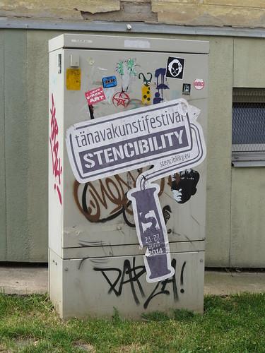 Stencibility festival sticker