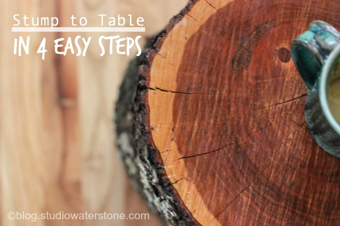 DIY Stump to Table