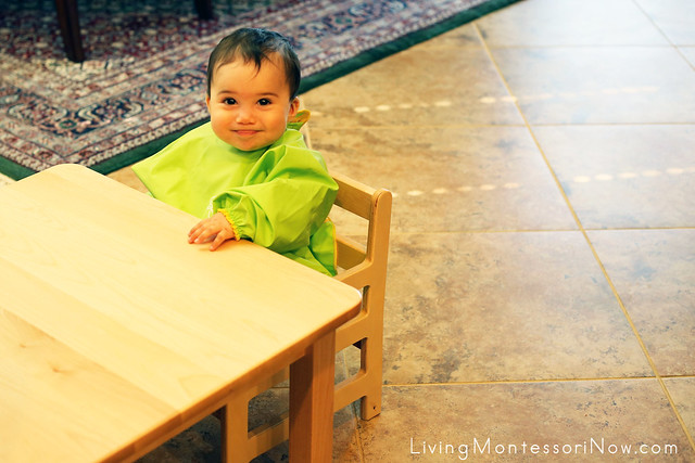 Waiting for a Snack at the Weaning Table at 8 Months