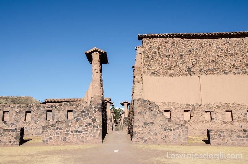 ruinas de raqchi en ruta Sillustani y Raqchi