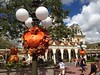 Magic Kingdom Halloween Decorations along Main Street USA