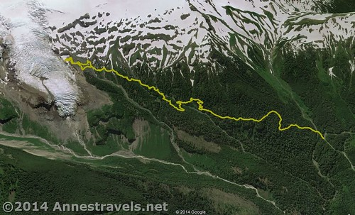 Visual map of the Heliotrope Divide Trail, Mount Baker-Snoqualmie National Forest, Washington