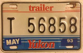 YUKON 1993--- TRAILER PLATE