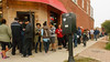 Line at Hot Dougs on my last dog day