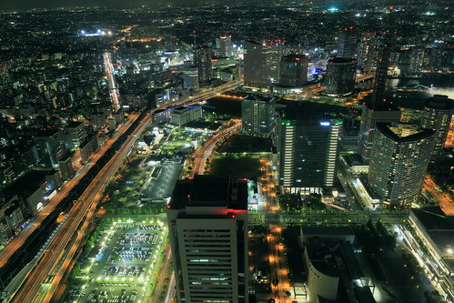 road light buildings nightview yokohama 夜景 横浜