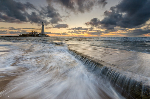 sea lighthouse water st clouds sunrise nikon north sigma filter lee nd marys 1020mm causeway graduated density neutral d7000 printed6x4