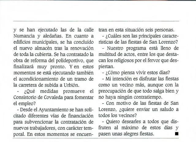 Programa Fiestas de San Lorenzo Año 2000