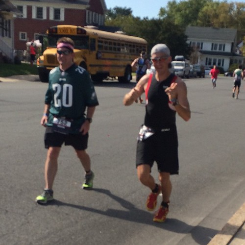 Oh you know, just Stripes crushing his Ironman. Also a dude doing the race in an Eagles jersey.