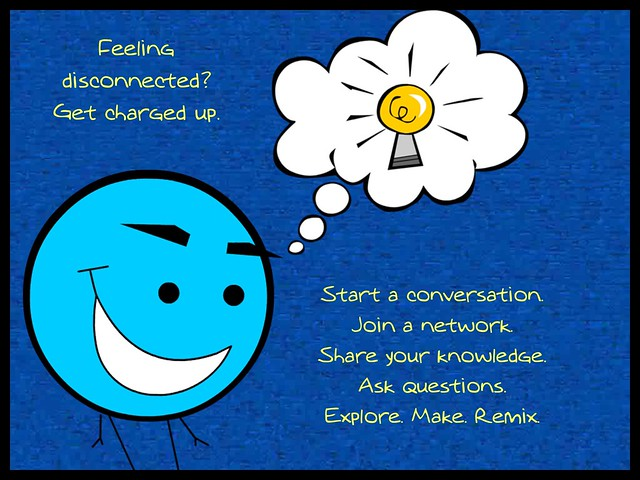Just connect #ccourses #clmooc