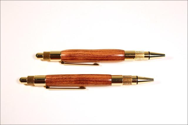 Bubinga Stratus Click Pens