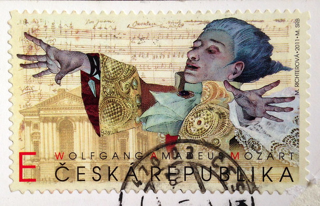 Mozart stamp from Czech Republic