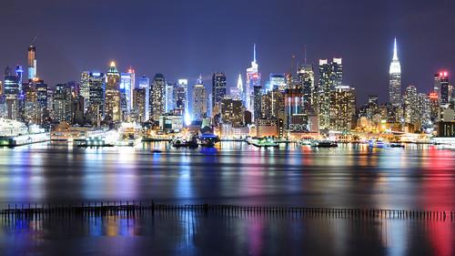 byscottphotos newyork newyorkcity nyc longexposure hudsonriver hudson skyline skyscrapers 42nd st empirestatebuilding newyorker timessquare river manhattan usa skyscraper building view viewpoint newjersey nj ny nikon nikk 2470mmf28 2470mm nikko nikkor