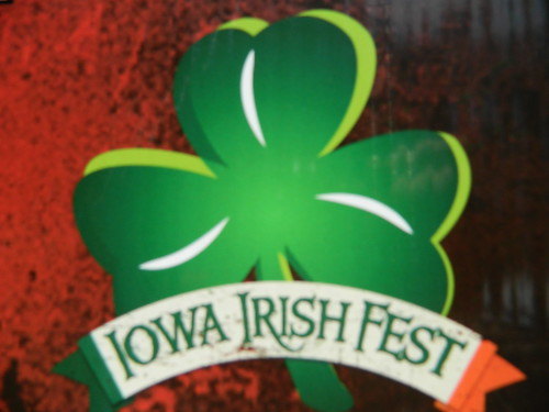 Iowa irish Fest shamrock