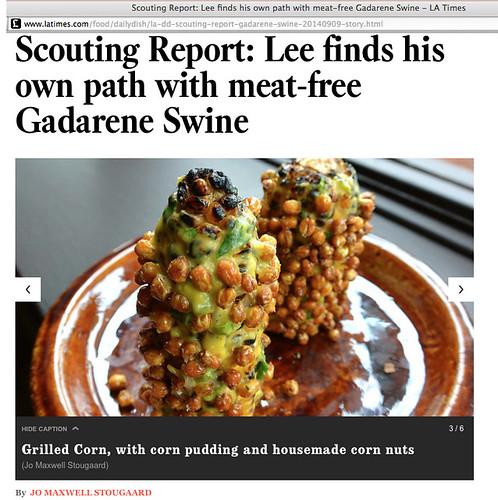 Gadarene Swine Scouting Report, L.A. Times