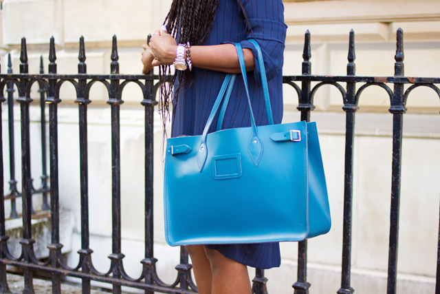 Cambridge Satchel Company tote bag in teal blue