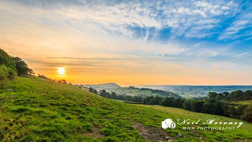 sun west wales sunrise carmarthenshire westwales hill valley merlin abergwili merlins carmarthen towy tywi towyvalley merlinshill tywivalley