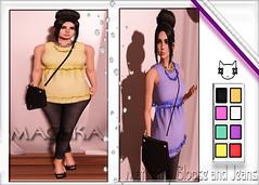 ~ϻ:Pretty Maternity Tunic 8 Colors Hud and jeans outfit
