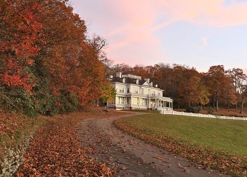 photosbymch landscape sunrise fallcolors autumn leaves trees mosesconemanor flattopmanor blueridgeparkway appalachianmountains northcarolina usa canon 5dmkiii 2016 pinksky outdoors
