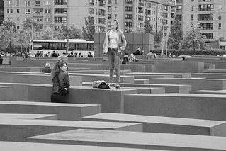 Image of Memorial to the Murdered Jews of Europe near Tiergarten. berlin holocaust memorial europe