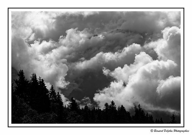 Le Mont Blanc, cache cache avec les nuages