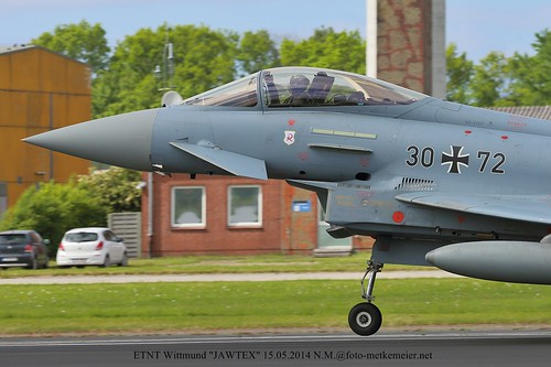 German Air Force Eurofighter EF2000 30+72 close