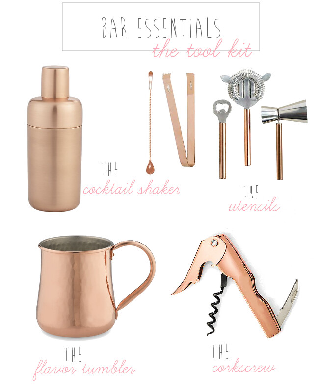 {bar tool kit essentials} via chevrons & éclairs