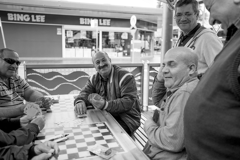 men playing cards in Fairfield