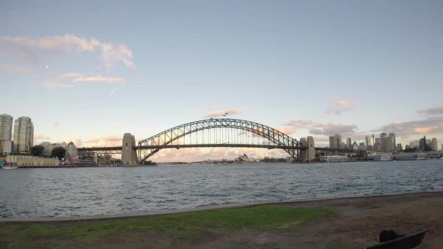 Sydney Harbour Bridge Evening Timelapse
