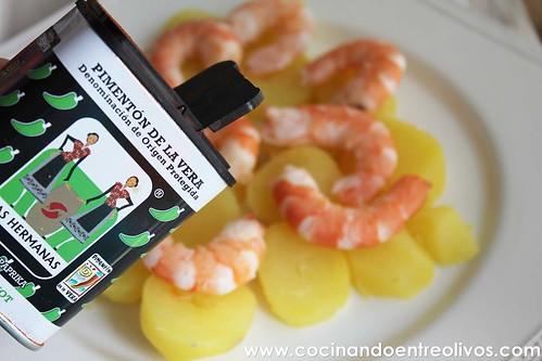 Langostinos al pimentón picante www.cocinandoentreolivos (5)