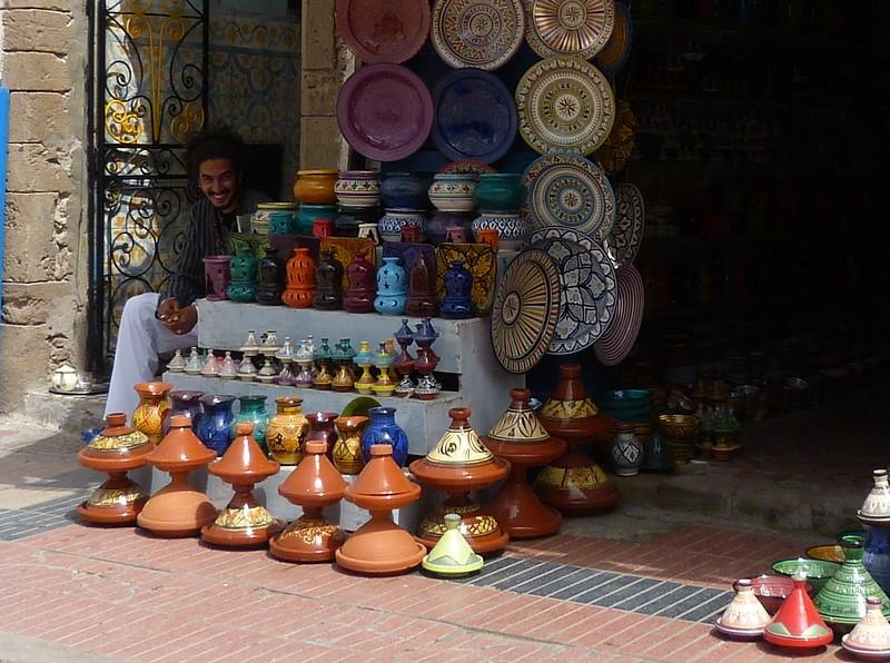 Man selling pots, Essaouira