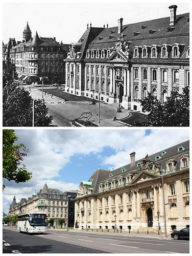 Palais de l'Arbed, Luxembourg, then and now