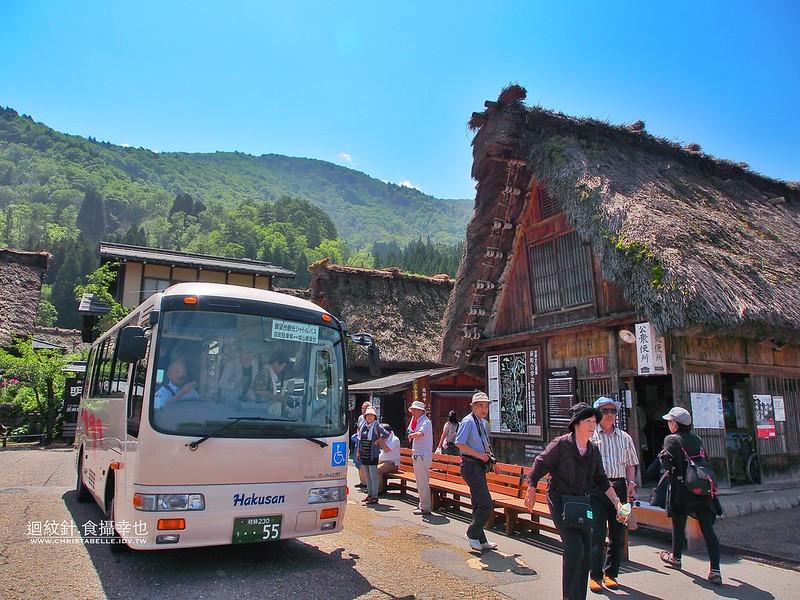 白川鄉 合掌 往眺望台巴士