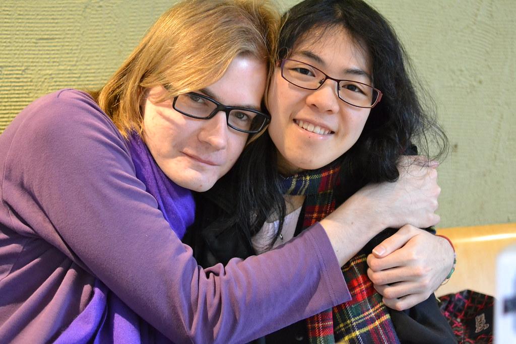 Ruben and I at DJ's cafe