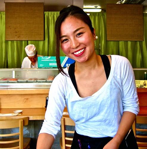 charming waitress saki