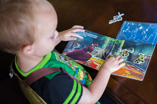 Toddler Reading Ninja Turtles Book #goodnightsnack #shop