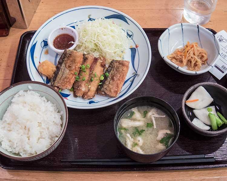 さんまの竜田揚げ定食