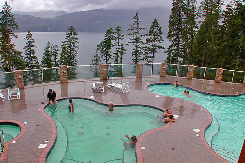 Halcyon Hot Springs, Nakusp, Upper Arrow Lake, West Kootenays, British Columbia