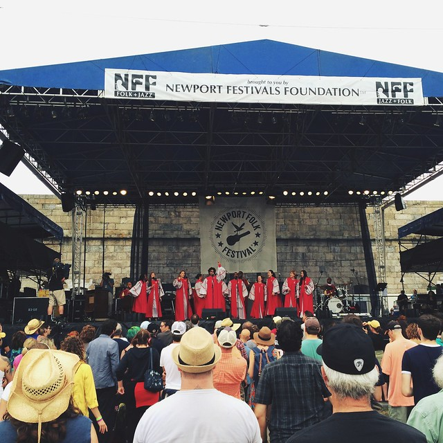 Who says you can't go to church at a music festival. #canigetawitness @newportfolkfest #newportfolk