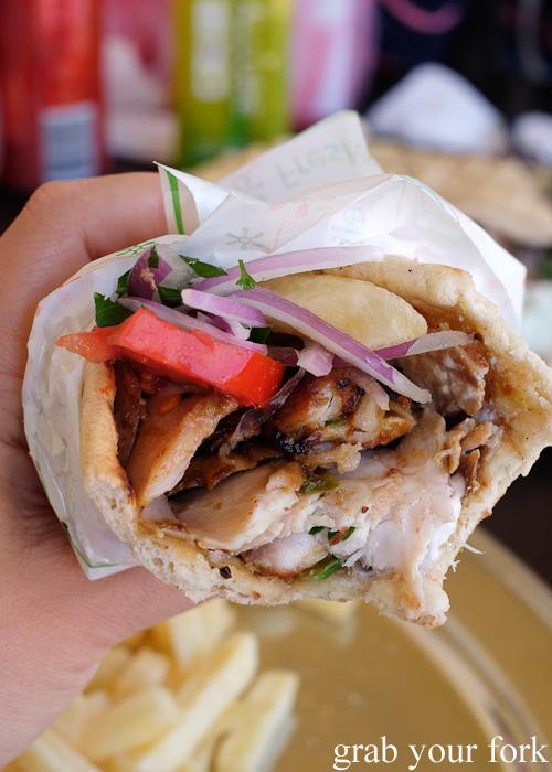 Pita chicken gyros at Traditional Gyradiko, Bexley