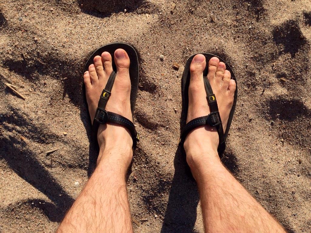 Luna Sandals OSO at the Beach.
