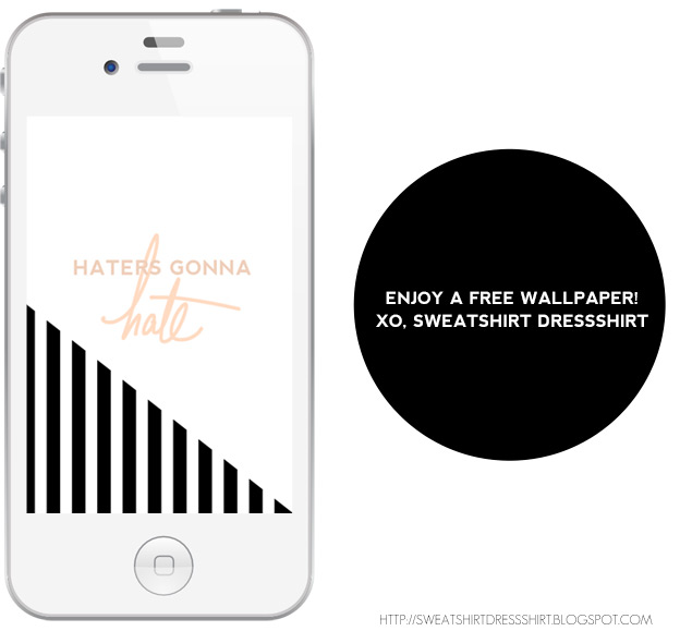 haters gonna hate, iphone wallpaper with black and white stripes, kate spade inspired graphic, kate spade phone wallpaper